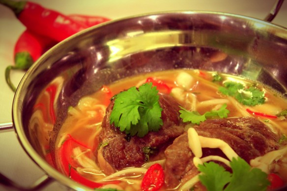 Braised pork thai broth