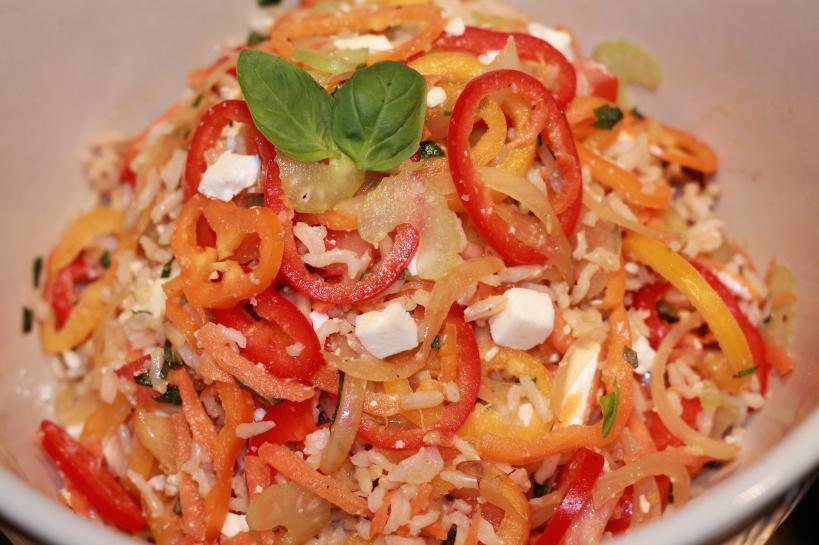 Brown Rice and Feta Salad