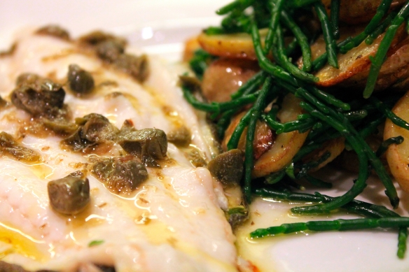 Plaice Sauteed Potatoes Samphire