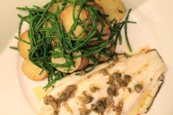 Plaice Samphire Sauteed Potatoes Top View