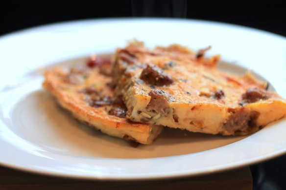 Sausage and Thyme Omelette