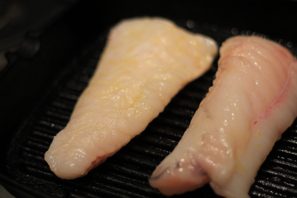 Monkfish - griddle pan