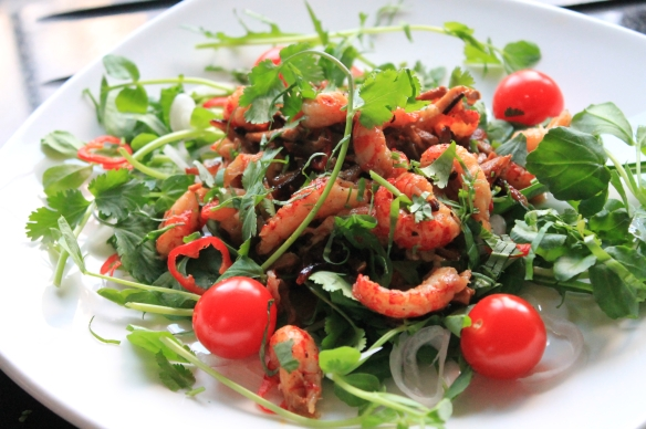 Shredded Pork and Crayfish Salad