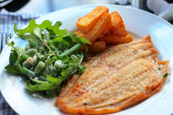 Lemon Sole and Triple Cooked Chips