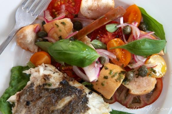 Seabass and Panzanella Salad