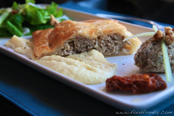 Pork Pasty, Apple Celeriac Puree