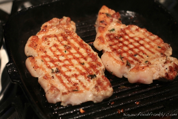 Griddled pork chop