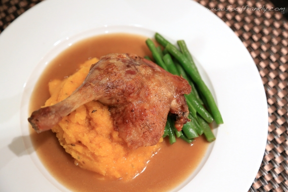 Duck with butternut squash