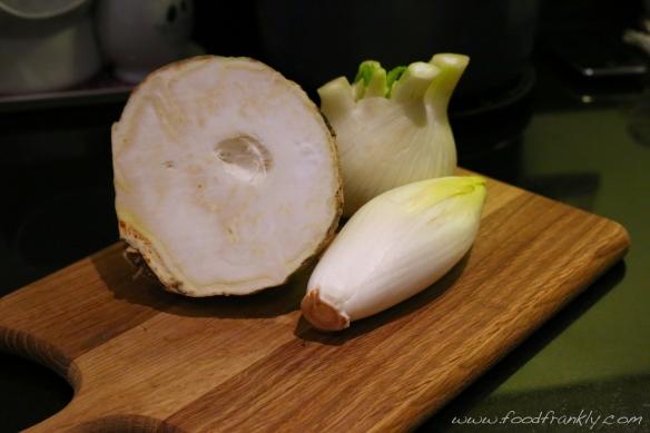 Celeriac fennel chicory