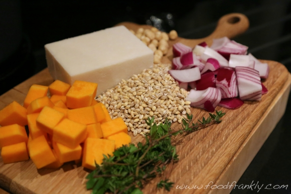 Butternut squash barley risotto ingredients