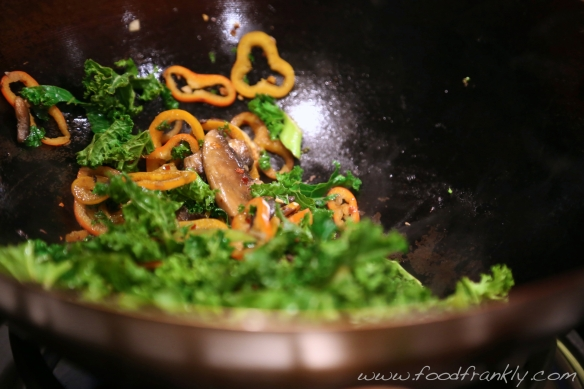 Spicy kale stir fry