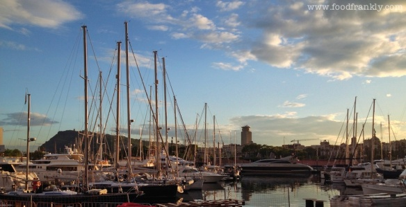 The harbour in Barcelona