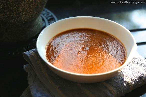 Orange and tomato BBQ sauce