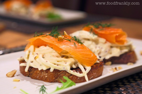 Smoked salmon and remoulade
