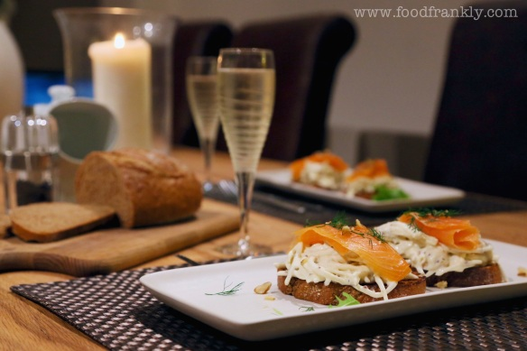 Smoked salmon rye bread celeriac remoulade